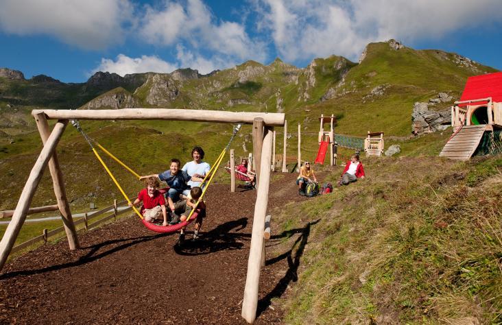 Der Spielplatz bei der Bergstation Schlossalm