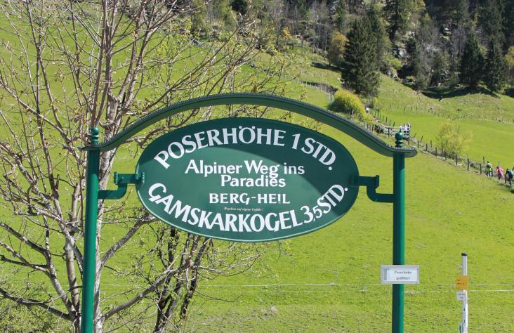Etwa 1 Stunde ist man am alpinen Weg ins Paradies unterwegs..