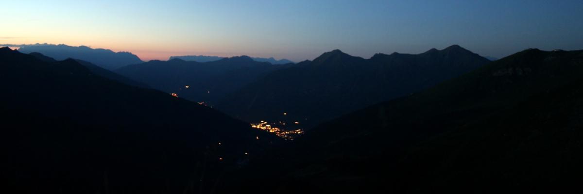 Auslick vom Erzwiessee bei Nacht