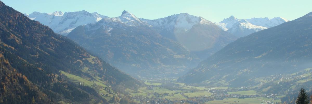 Ausblick vom Brandebengut auf Bad Hofgastein