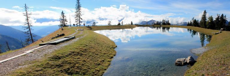 Der Spiegelsee am Fulseck ist ein ideales Ziel für Familien.