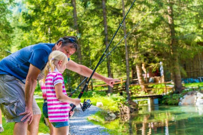 Angeln im Fischteich