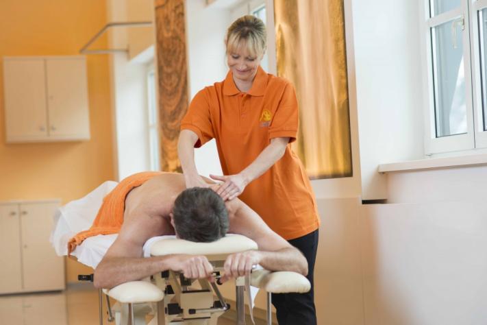 Eine genußvolle Massage im Heilstollen