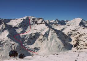 Blick auf die Schareck Ostflanke vom Skigebiet Sportgastein.