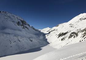 Blick Richtung Westen über die Bockhartseen auf den Ritterkopf in Rauris