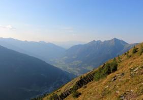 Der Ausblick Richtung Norden auf Bad Hofgastein