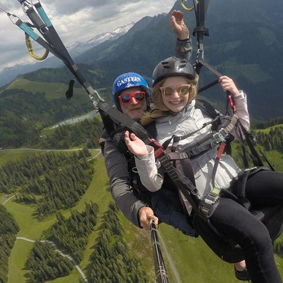 🏔♥️ #alpen #tandem #paragliding #gastein #fulseck #spiegelsee #angstüberwunden #besteaussicht