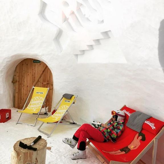 #iglu #icehouse #snowhouse #gastein #schlossalm #winter #relax #gastein #stieglbier #winter #badhofgastein #crazy #icebar #almdudler