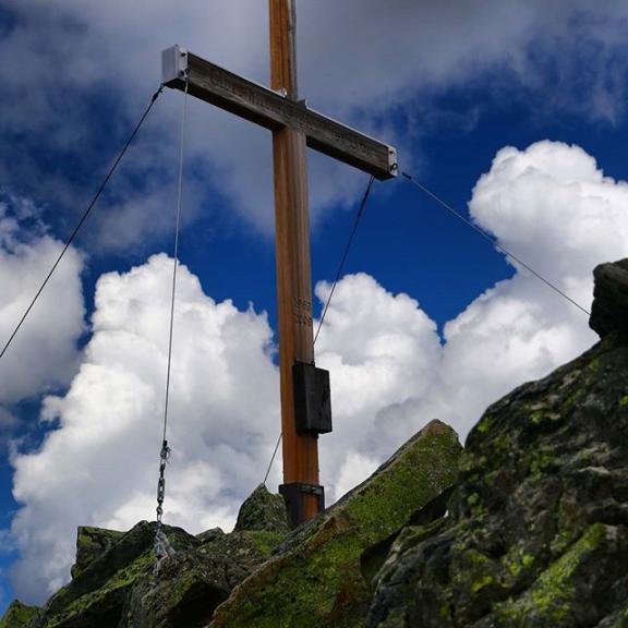Thre Graukogel summit cross.  #hiking  #graukogel #gasteinertal  #mountains #canon6d