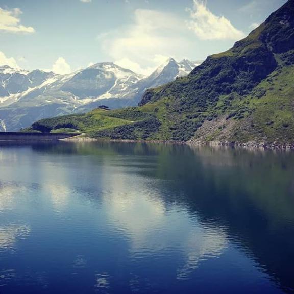 #Bockhartsee #Alpy #uptohill #nicetrip #likeamirrorimage #clouds #lake  To byl zase záhul... 😁