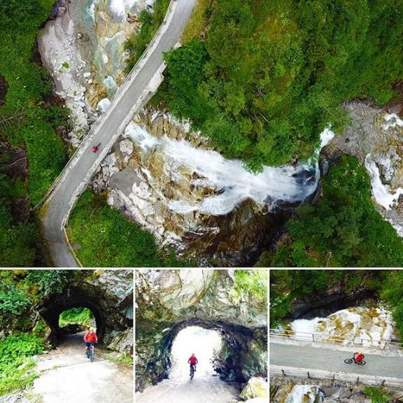 A different point of view! Thanks @wolfgang_kofler for the photos #helidus #gastein  #visitgastein #salzburgerland #igersaustria #mountainbike #enduromtb #bikegastein #flyerbike #sportgastein #outdoor #drone #dronephotography #mtbgastein