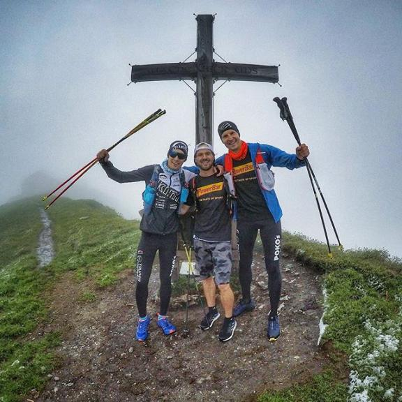No race but some #goodtraining for team @powerbar_europe @infinitetrailswch #gamskarkogel #visitgastein #infinitetrailswch #loop1