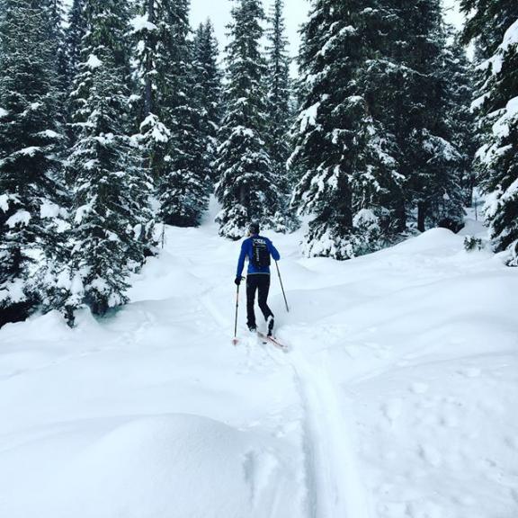 Wieder Winterkind... #traumtagerl #skimo #snowstorm #powder #perfectsunday #skinfit #graukogel