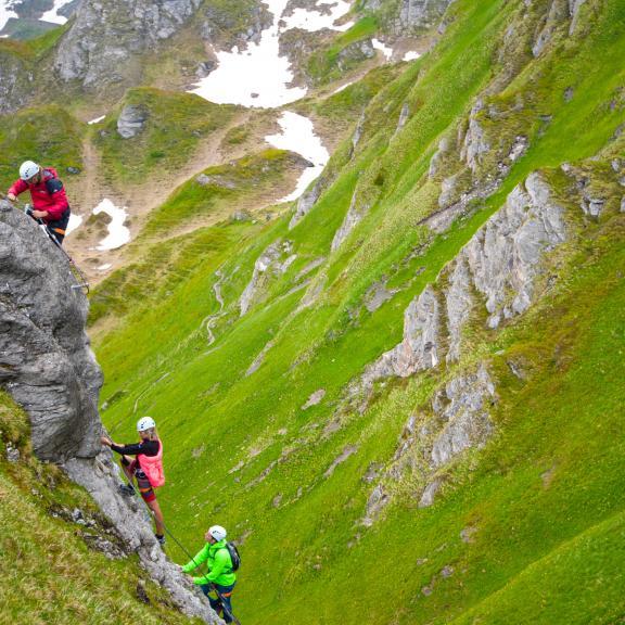 Klettern auf der Schlossalm