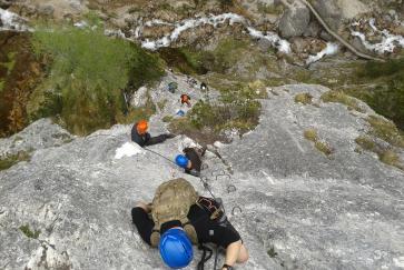 Am Klettersteig hoch hinaus