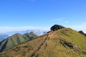Die Gamskarkogelhütte auf 2467m. Foto: Franz Henisch