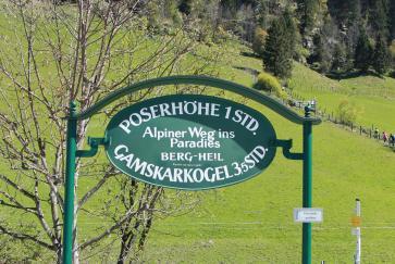 Etwa 1 Stunde ist man am alpinen Weg ins Paradies unterwegs.