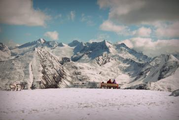 Am Gipfel ist es bereits winterlich!